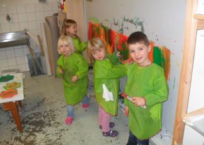 Malen im Werkraum