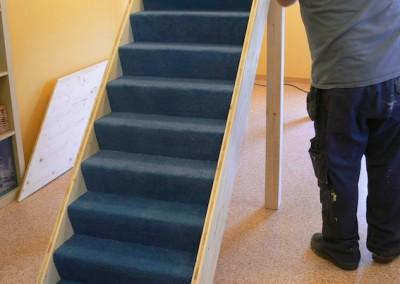 Juhui, die Treppe ist dran