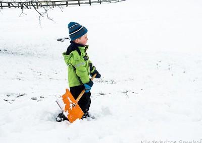 Viel Schnee zum schaufeln